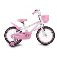 """Детски велосипед Moni - Със светеща рамка, розов, 16"""" -1"""