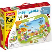 Мозайка от 316 части Quercetti - Mix Nature Fun Bugs and Pegs -1