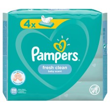 Мокри кърпички Pampers - Fresh Clean, 4 x 52 броя -1