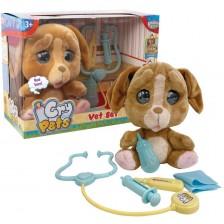 Плачеща плюшена играчка със сълзи Giochi Emotion Pets - Куче, с ветеринарни принадлежности -1
