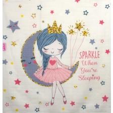 Муселинова  пелена Sevi Baby - 55 x 70 cm, принцеса, 2 броя -1