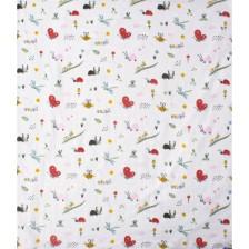 Муселинова пелена Sevi Baby - 120 x 100 cm, веселите буби -1