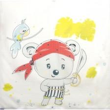 Муселинова пелена Sevi Baby - 90 x 90 cm, пират -1