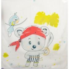 Муселинова  пелена Sevi Baby - 55 x 70 cm, пират, 2 броя -1