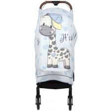 Муселиново покривало за детска количка с 3D принт Sevi Baby - Жираф -1