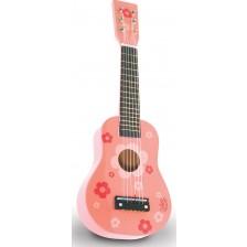 Детски музикален инструмент Vilac - Китара, розова -1