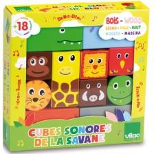 Музикални дървени кубчета Vilac - Савана -1