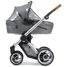 Прозрачен дъждобран за кош за новородено Mutsy EVO -1