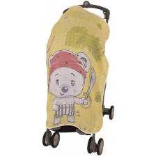 Муселиново покривало за детска количка с 3D принт Sevi Baby - Пират -1