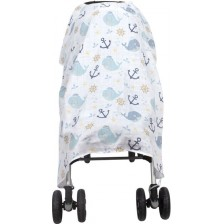 Муселиново покритие за детска количка Sevi Baby - Риби -1