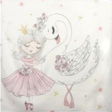 Муселинова пелена Sevi Baby - 120 x 100 cm, лебед -1