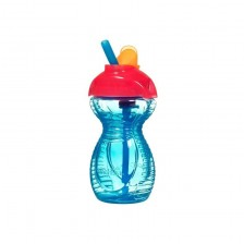 Munchkin Неразливаща чаша със сламка Click Lock 296мл синя 11368 -1