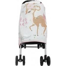 Муселиново покривало за детска количка с 3D принт Sevi Baby - Сърничка -1