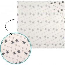 Муселинова хавлия с качулка Sevi Baby - Сиви звезди -1