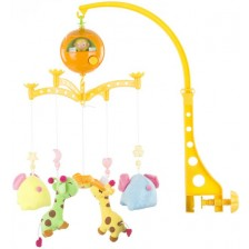 Музикална въртележка Chipolino -  Жирафчета и слончета -1