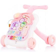 Музикална играчка на колела Chipolino - Мулти, розова -1
