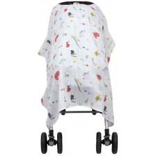 Муселиново покритие за детска количка Sevi Baby- Весели буболечки -1