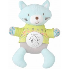 Kikkaboo Плюшена музикална играчка с прожектор Kit the Cat -1