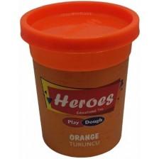 Натурален моделин в кутийка Heroes Play Dough - Оранжев -1