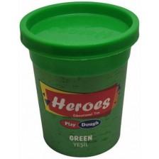 Натурален моделин в кутийка Heroes Play Dough - Зелен -1