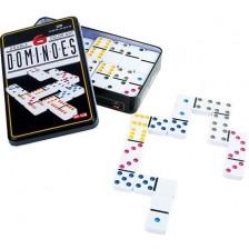 Настолна игра Small Foot - Домино, в метална кутия -1