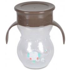 Неразливаща чаша Cangaroo - Magic Cup, 270 ml, сива -1