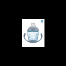 Нетечаща чаша с дръжки и мек накрайник Canpol - Sea Life, 230 ml, сива -1