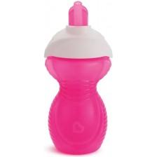 Munchkin 11368 Чаша с гъвкава сламка Click Lock 296 ml розов -1