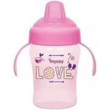 Неразливаща се чаша Mycey, 240 ml, розова -1
