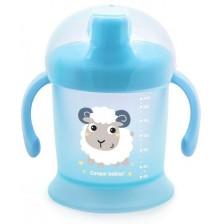 Нетечаща чаша с твърд накрайник Canpol - Bunny and Company, синя