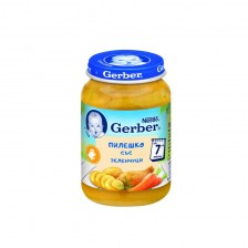 Пюре от пилешко със зеленчуци Nestlé GERBER - 7+ месецa, 190 gr -1