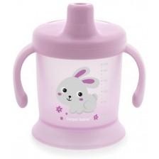 Нетечаща чаша с твърд накрайник Canpol - Bunny and Company, розова -1