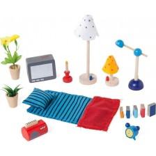 Обзавеждане за куклена къща Goki - Аксесоари за хол и спалня -1