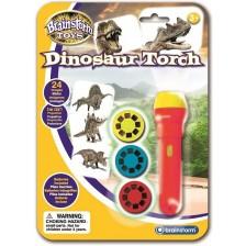 Образователна играчка Brainstorm - Фенерче с прожектор, Дино -1