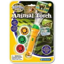 Образователна играчка Brainstorm - Фенерче с прожектор, Диви животни -1