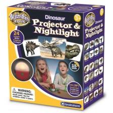 Образователна играчка Brainstorm - Проектор и нощна лампа, динозавър -1