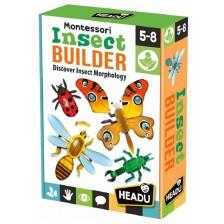 Образователна игра Headu Montessori - Строител на насекоми -1