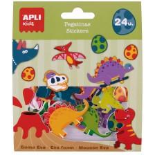 Apli Обемни стикери Динозаври 24 бр. -1