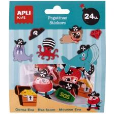Обемни стикери Apli - Пирати, 24 броя -1