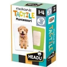 Образователни флаш карти Headu Montessori - Животни, с докосване -1