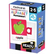 Образователни флаш карти Headu Montessori - С тактилна и фонетична азбука -1