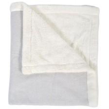 Одеяло Cangaroo - Pom Pom, 100 x 85 cm, сиво -1