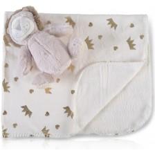 Одеяло с играчка Cangaroo - Lion, 90 x 75 cm -1