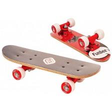 Детски мини скейтборд D'Arpeje - Червен, 43 cm -1