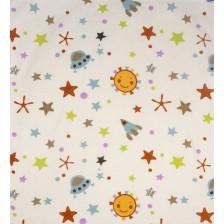 Органична муселинова пелена Sevi Baby - 120 x 100 cm, космос -1