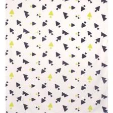 Органична муселинова пелена Sevi Baby - 120 x 100 cm, триъгълници -1