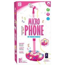 Детски микрофон със стойка Ocie - My Music World, розов -1