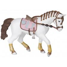 Фигурка Papo Horses, foals and ponies – Кон със сплетена грива -1