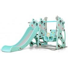 Пързалка с люлка Moni Garden - Miki, 172 cm, синя -1