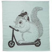 Памучно килимче Bloomingville - С катеричка, зелено -1